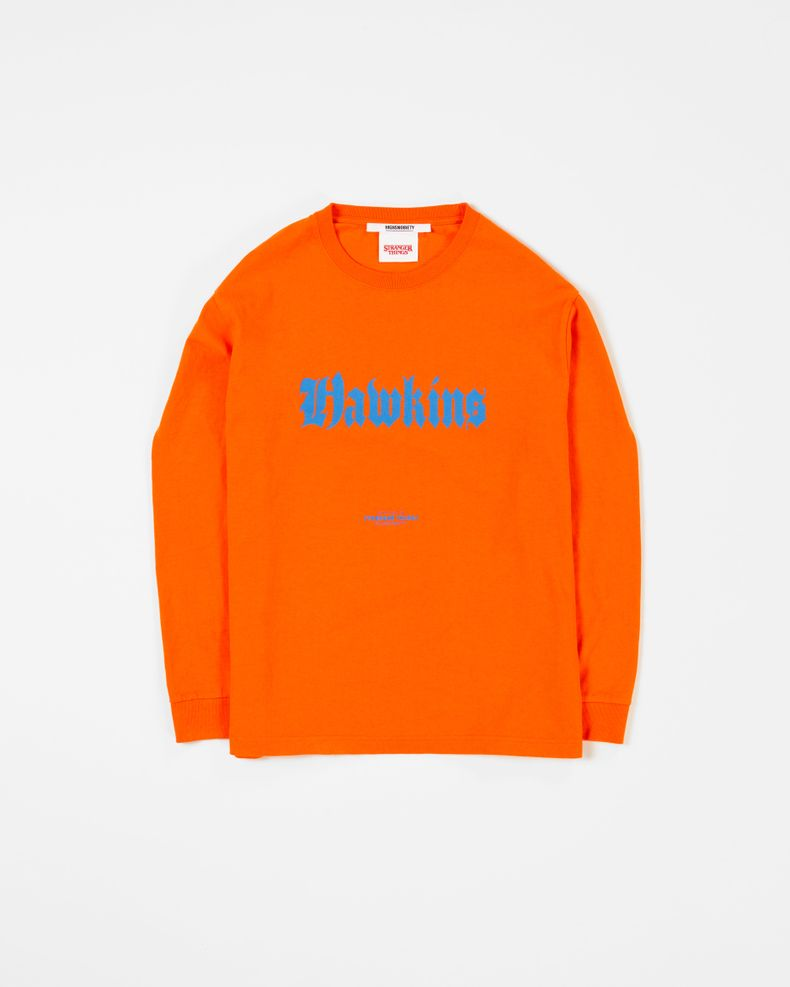 Highsnobiety x Stranger Things — Hawkins Lonsleeve Orange