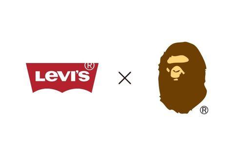 BAPE Levi's collaboration announcement
