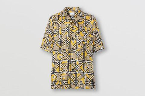 Vintage Check Print Silk Shirt