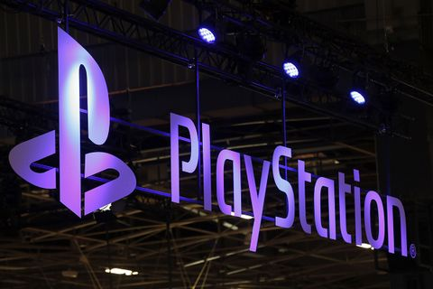 The Sony PlayStation logo is displayed during the 'Paris Games Week'
