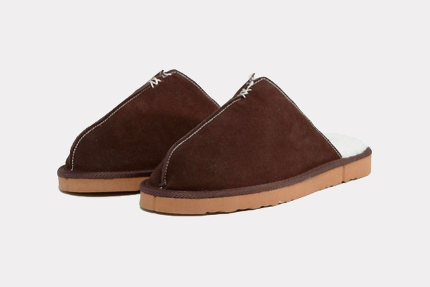 Slip on suede slippers