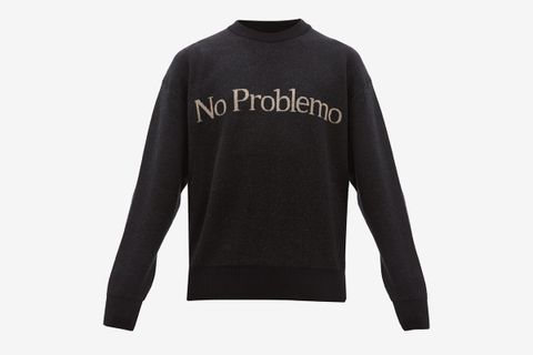 No Problemo Jacquard Wool Sweater