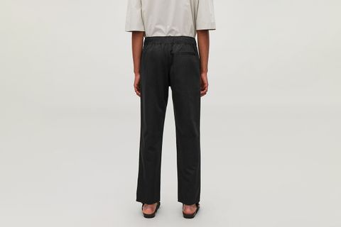 Cotton-Linen Elasticated Trousers