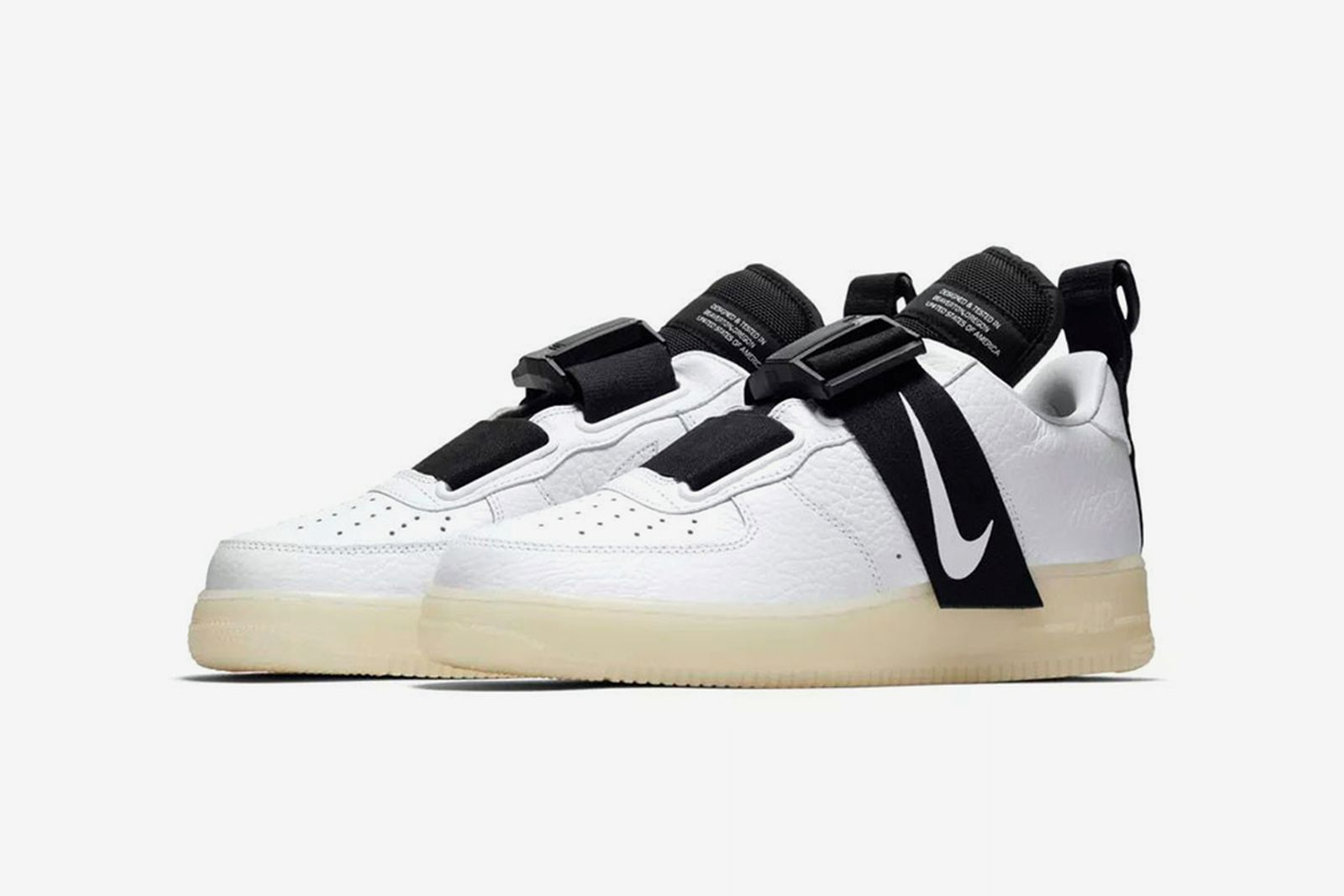 nike air force 1 utility buckle white black release date price