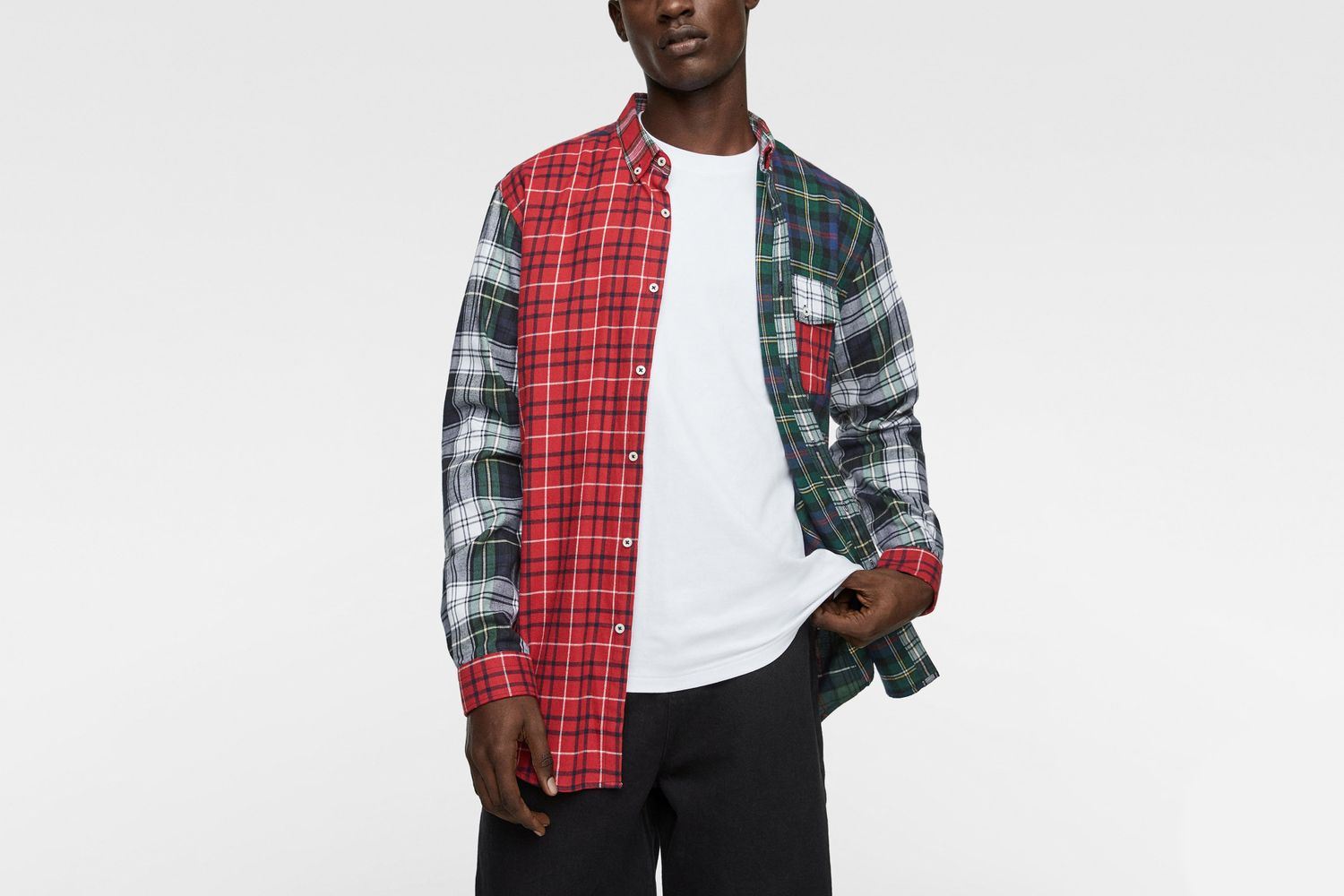 Contrast Check Flannel Shirt
