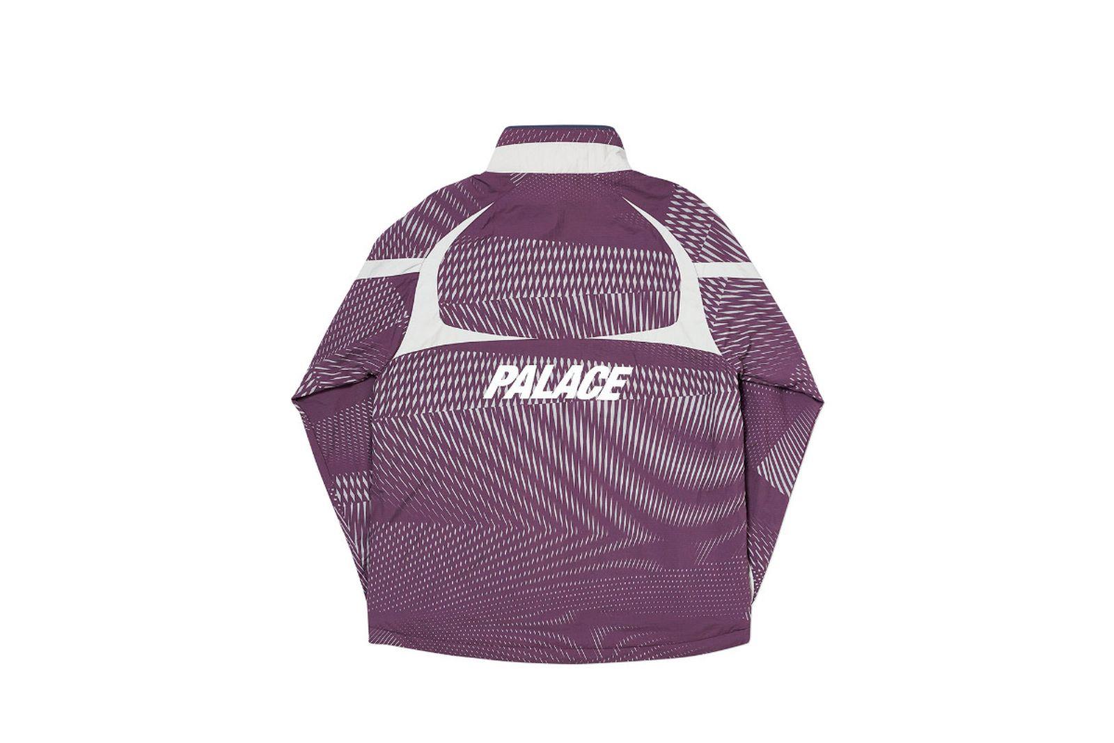 Palace 2019 Autumn Jacket Dazzler Shell plum grey back