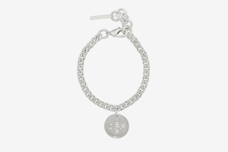 Silver Logo Cross Bracelet