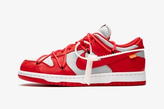 """Off White™ x Nike Dunk Low """"University Red"""": Official Images"""