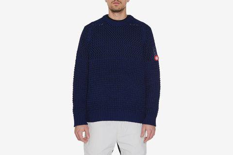 Net Waffle Sweater
