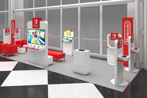 Nintendo Switch airport lounge