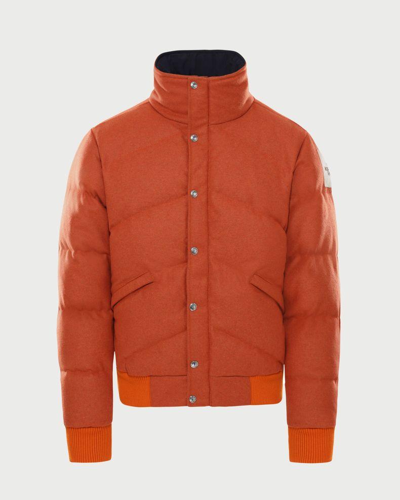 The North Face Brown Label — Larkspur Wool Down Jacket Heritage Orange Men