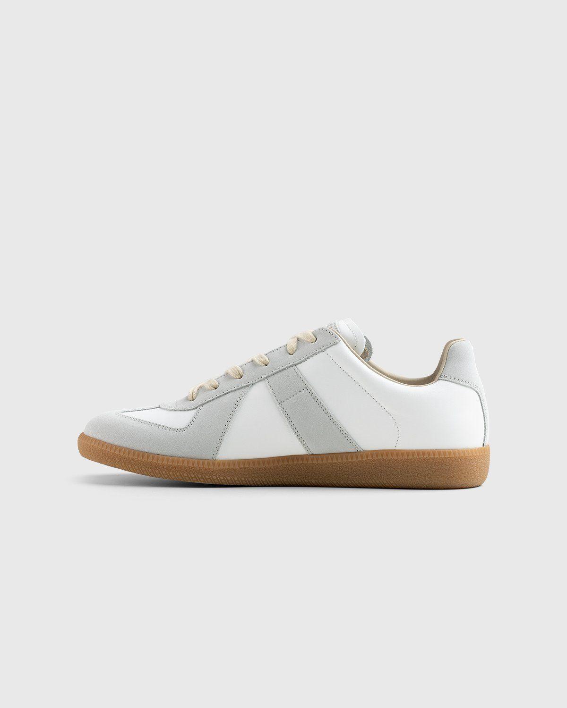 Maison Margiela — Calfskin Replica Sneakers Light Grey - Image 6