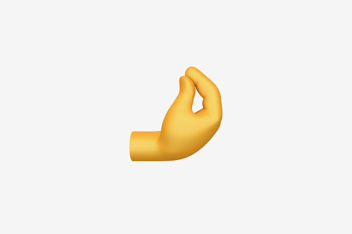 Apple pinched fingers emoji