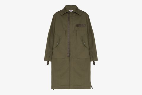 Pocket Detail Parka Coat