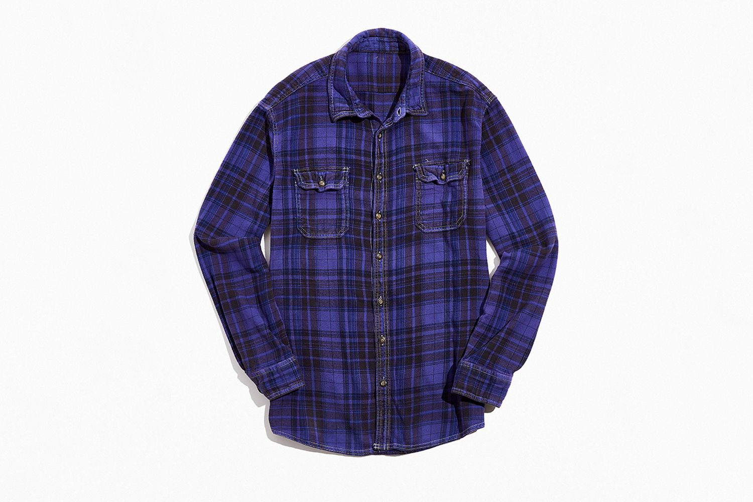 Overdyed Vintage Flannel Shirt
