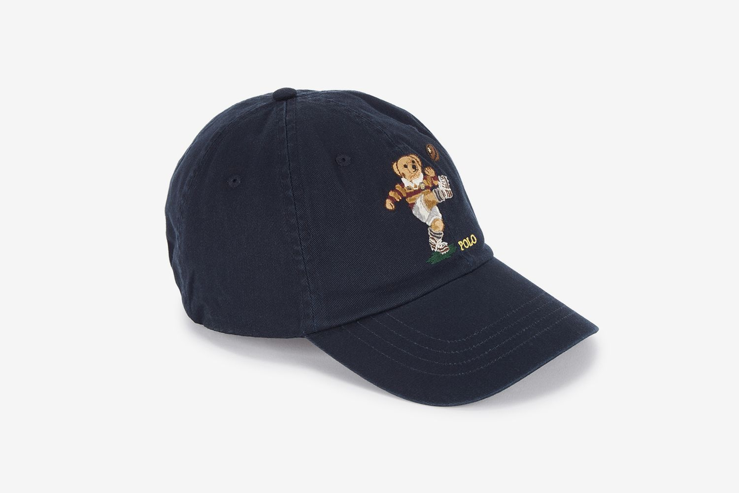 Bear-Embroidered Cap