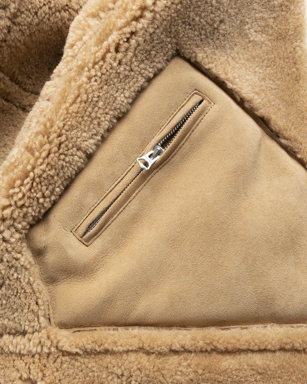 Acne Studios – Shearling Leather Jacket Almond Beige - Image 8