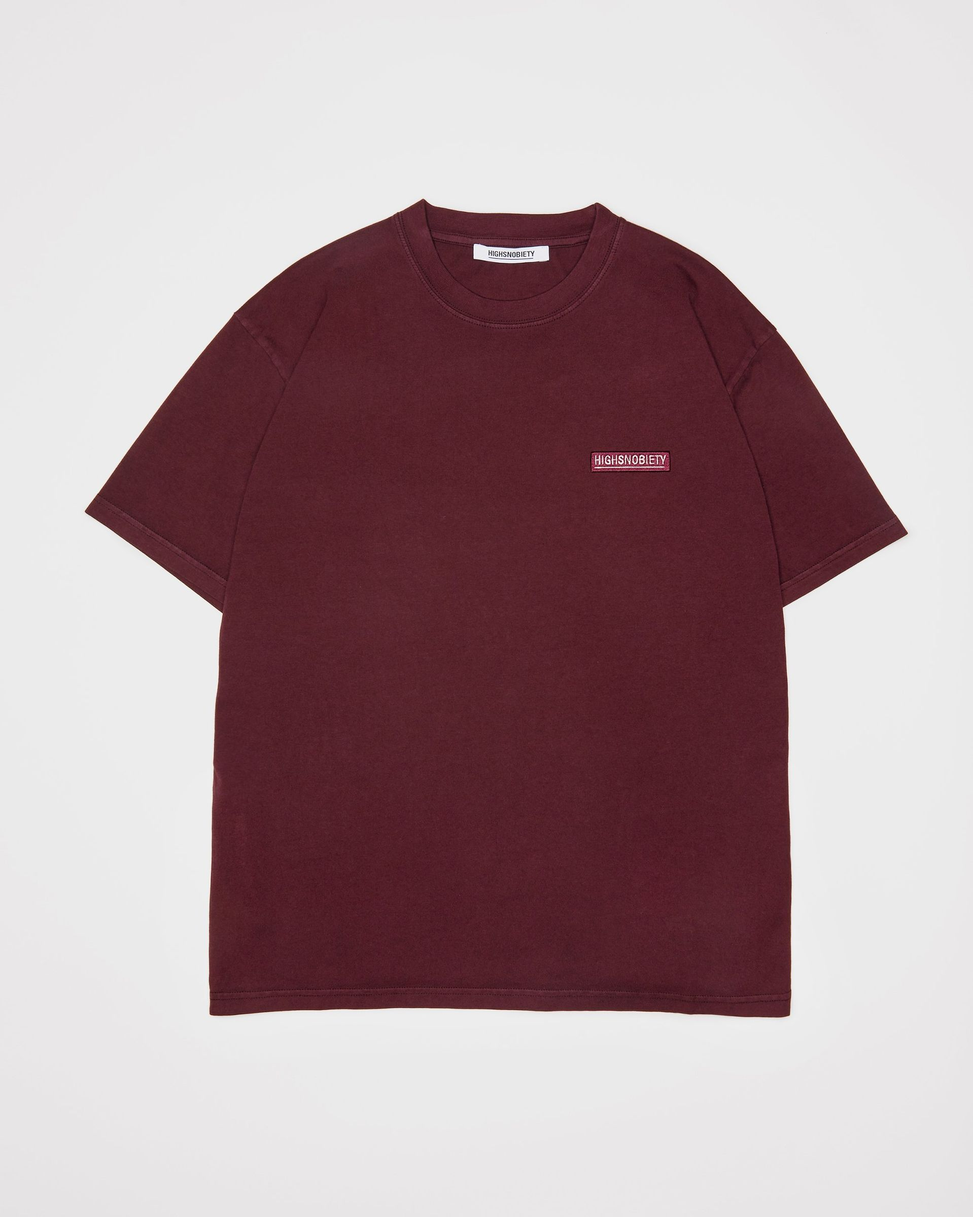 Highsnobiety Staples - T-Shirt Burgundy - Image 1