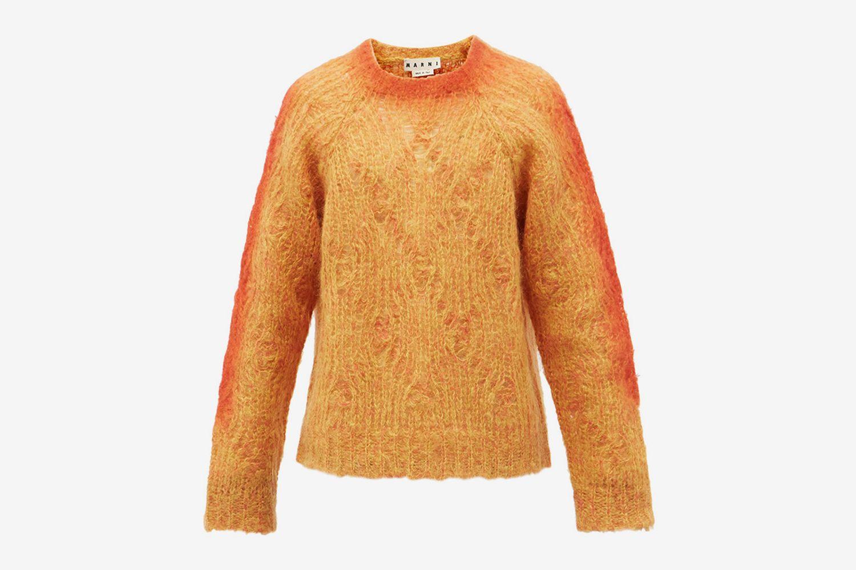 Latticed Mohair Sweater