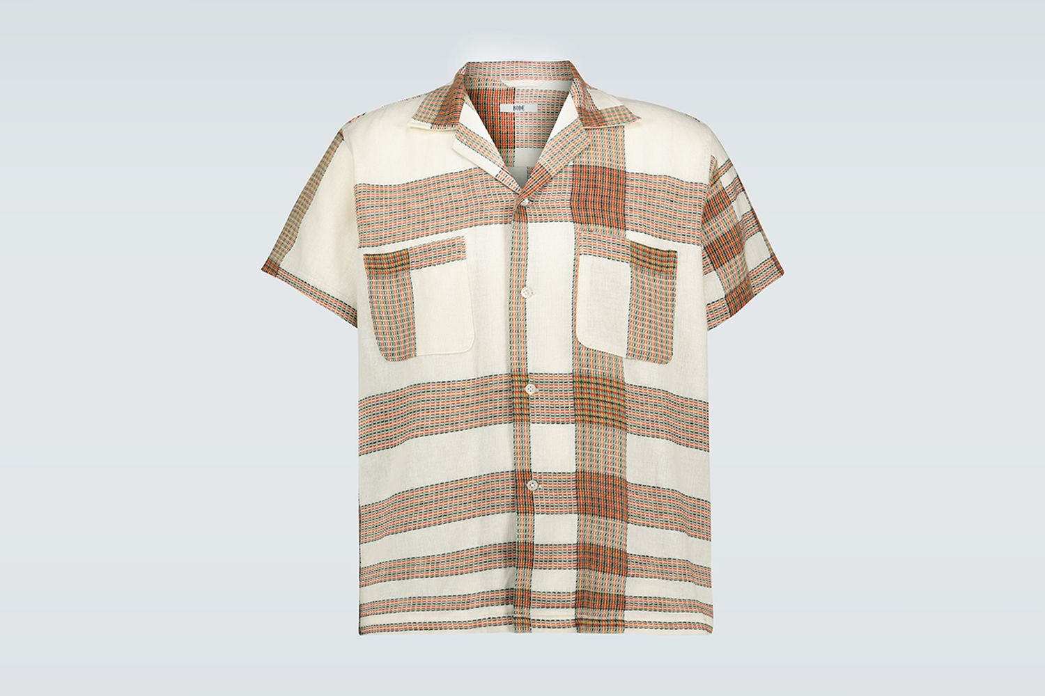 Plaid Linen Bowling Shirt