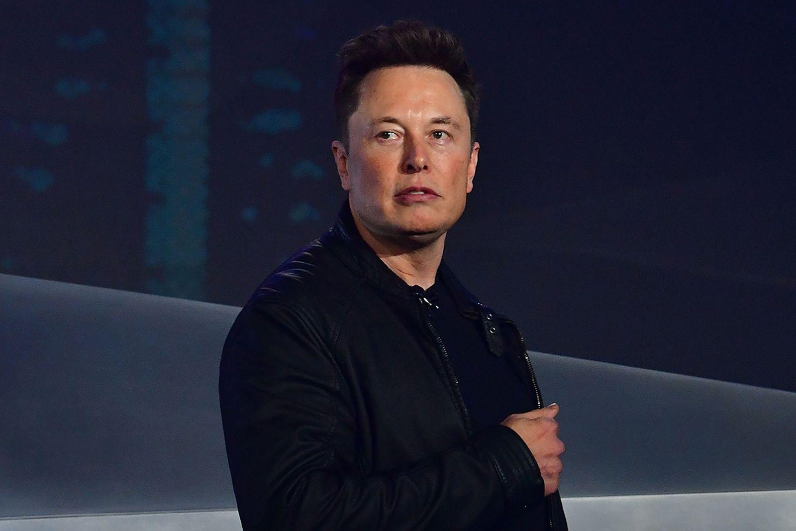 Elon Musk at the Tesla Cybertruck launch