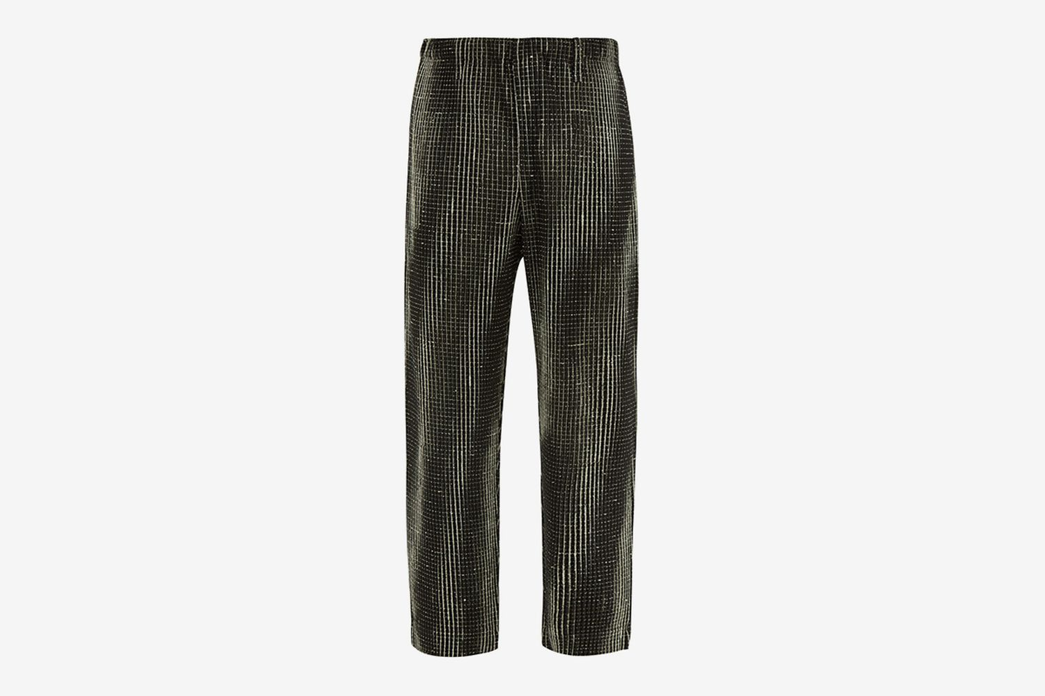 Network Check Plissé Trousers