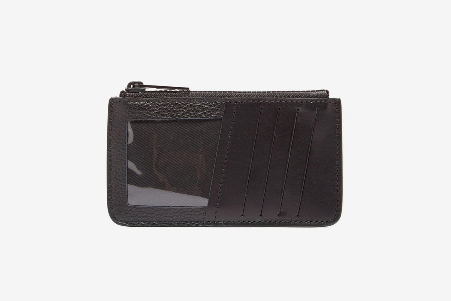 Four-Stitches Leather Cardholder