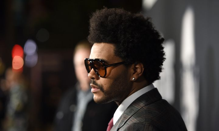 The Weeknd sunglasses suit