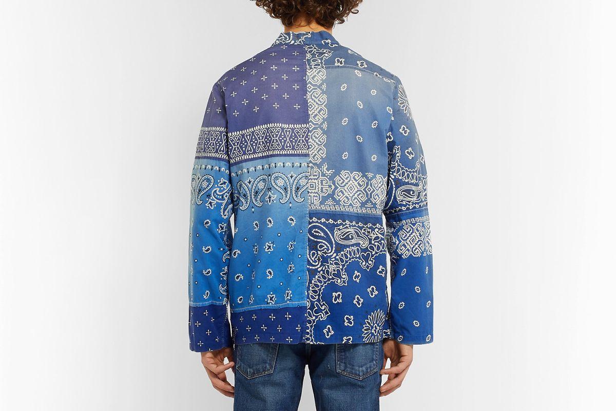 Patchwork Bandana-Print Cotton-Blend Shirt