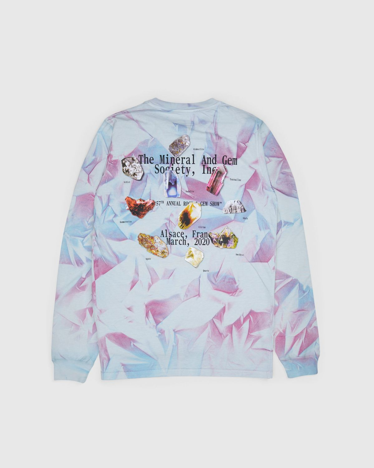Highsnobiety —This Never Happened Minerals & Stones Fair Longsleeve Tie Dye - Image 1