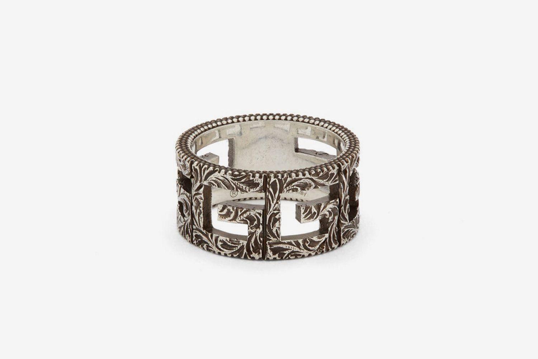 G-Motif Sterling-Silver Ring