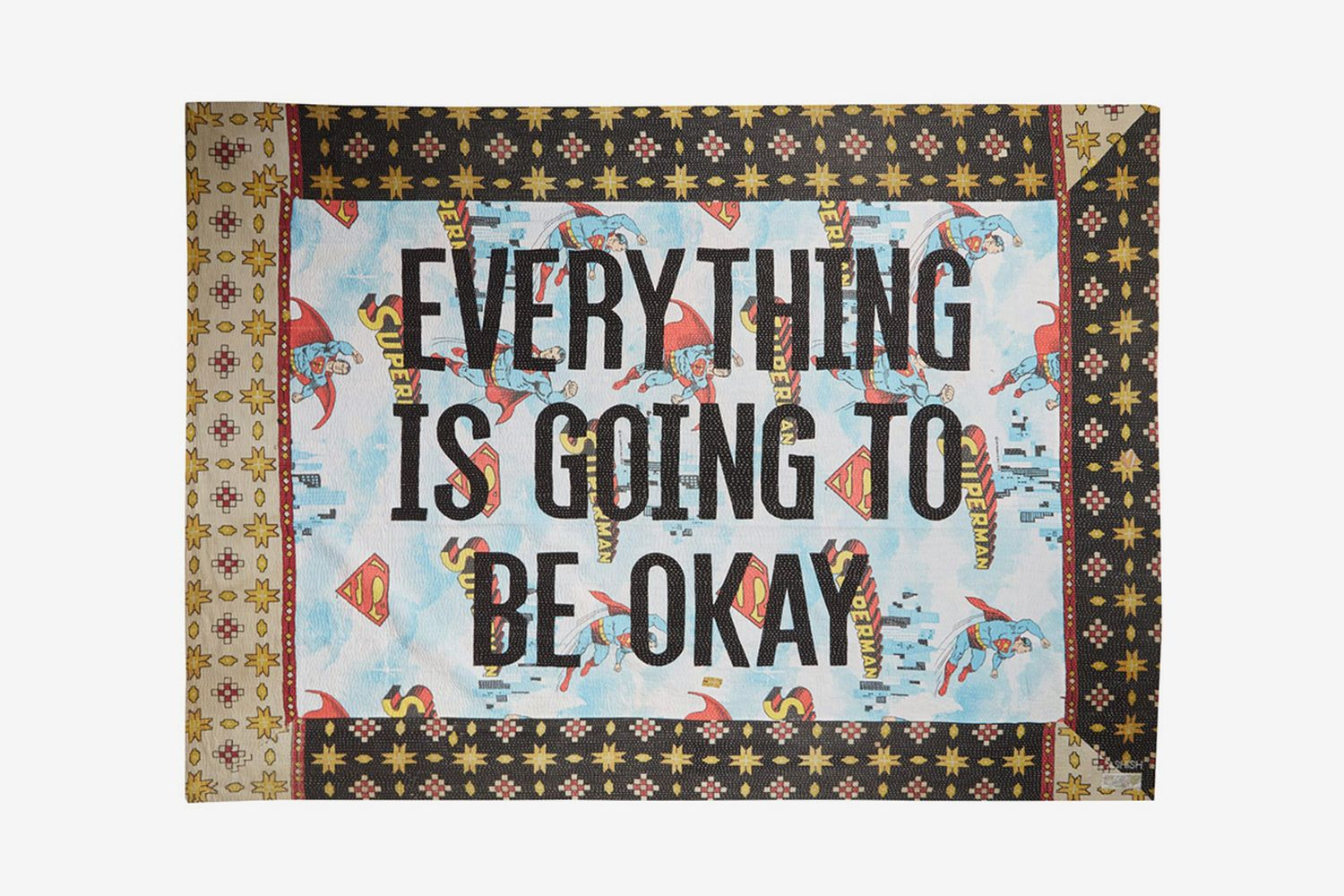 Everything Is Going To Be Okay Embroidered Blanket