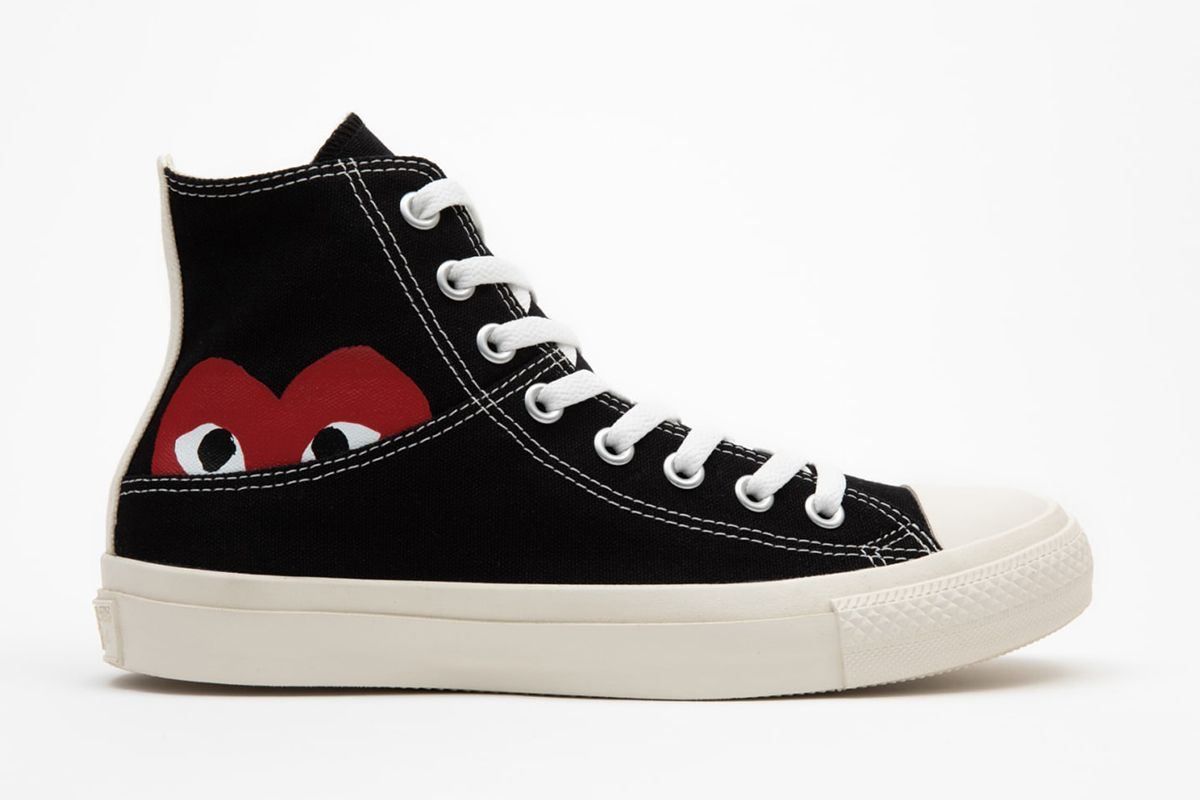 Aw, the CDG Play x Converse Heart Is Shy