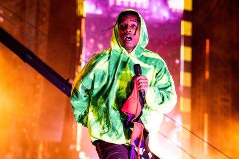 ASAP Rocky performing hoodie