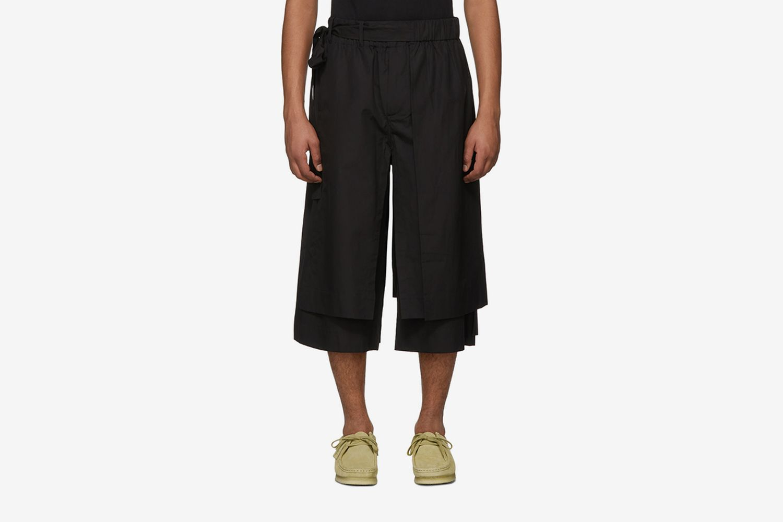 Layered Track Shorts