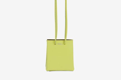 Mini Medea Leather Neck Bag With Long Strap
