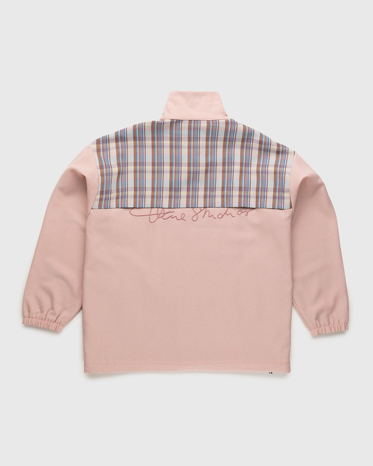 Acne Studios – Checked Twill Jacket Blossom Pink - Image 2