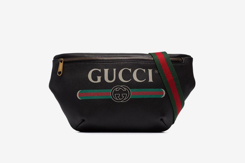 Oversized Logo Print Belt Bag