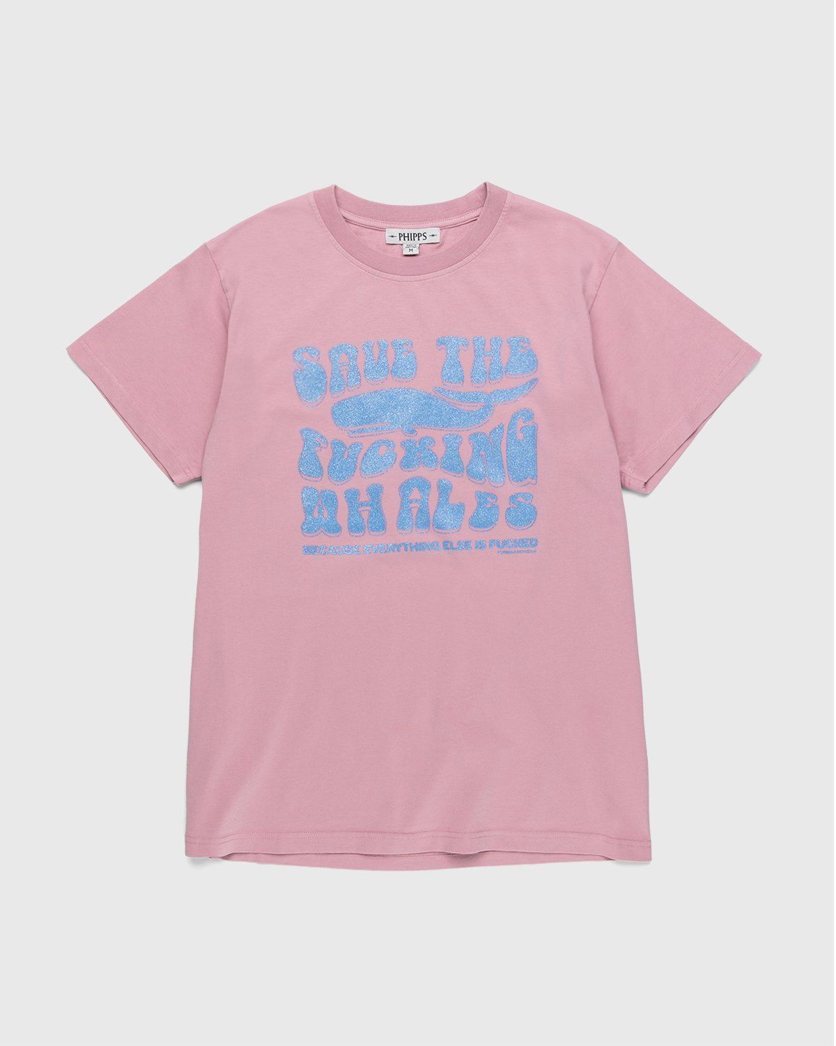 PHIPPS – Save The Fucking Whales T-Shirt Pink - Image 1