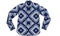 Sophnet Indigo Bandana Print Button Down Shirt