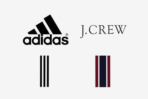 adidas j crew trademark infringement j. crew