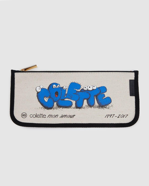 Colette Mon Amour x KAWS — Beige Pencil Case - Image 1