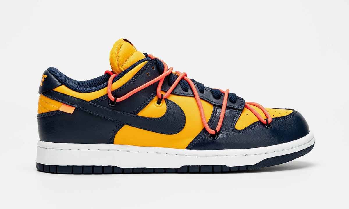 "Detailed Images of the ""Michigan"" Off-White™ x Nike Dunk Low Leak Online"