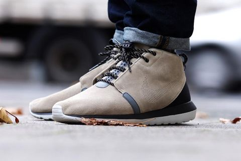 "buy online 288ad a49ac Nike beefs up their Sneakerboot offering with the Roshe Run NM in a  ""Bamboo"" colorway. Perfect for the winter season, the athletic giant s  latest kick ..."