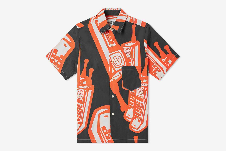 10 Short Sleeve Phone Print Shirt