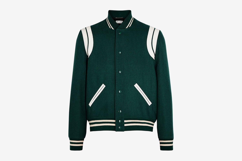 Wool-Blend Bomber Jacket