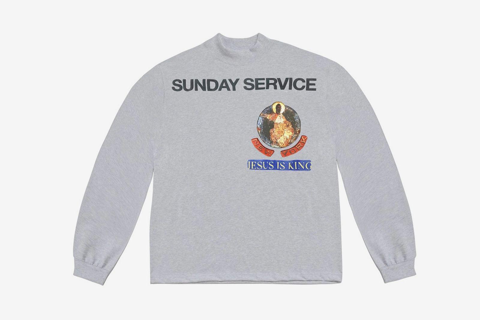 Kanye West Jesus Is King grey long sleeve T-shirt