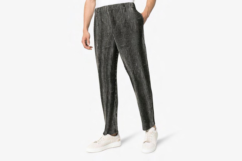 Check Straight Leg Trousers