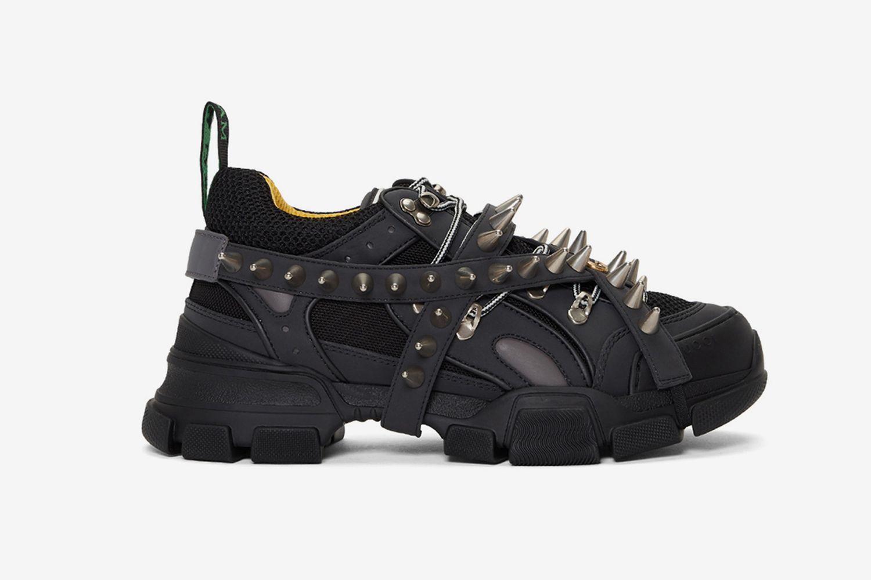 Black Removable Studs Flashtrek Sneakers