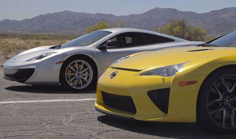Head 2 Head Bugatti Veyron Vs Lamborghini Aventador Vs Lexus Lfa Vs